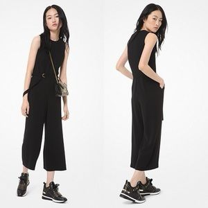 Michael Kors Black slinky jumpsuit cropped large
